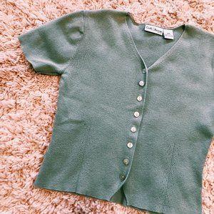 croft & barrow Tops - Vintage Croft & Barrow Button-Up Short Sleeve Tee